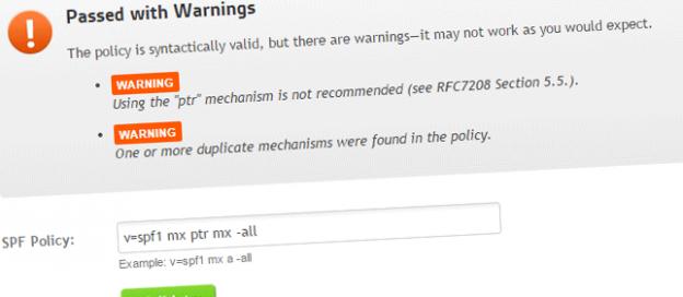 SPF Syntax Validator