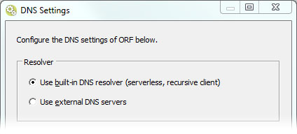 Choosing resolvers in ORF 5.4
